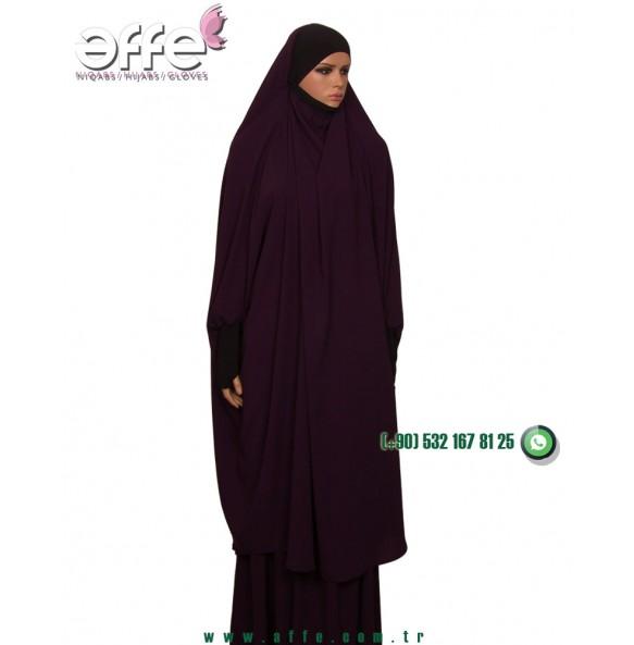 Affe Afgan Cilbabı - Mürdüm Renk