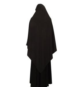 Black Silk Scarf L