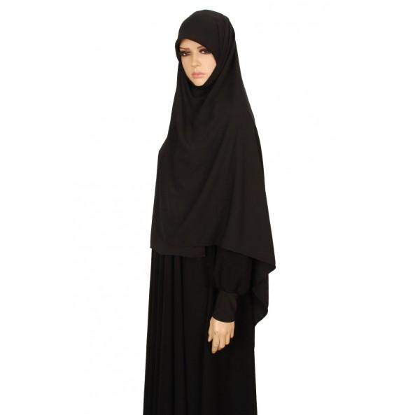Black Silk Scarf  M