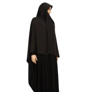 Black Silk Scarf XL