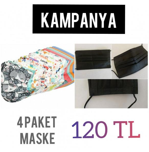 4 Paket 50li Maske Kampanyalı Fiyat